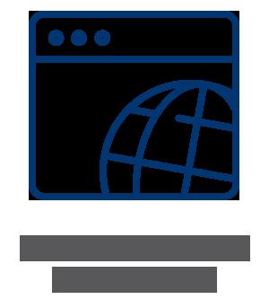 Text reads: Online seminars and webinars