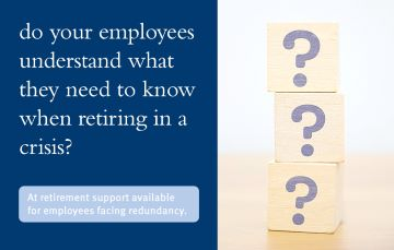 Do employees understand what they need to know about retiring in a crisis?